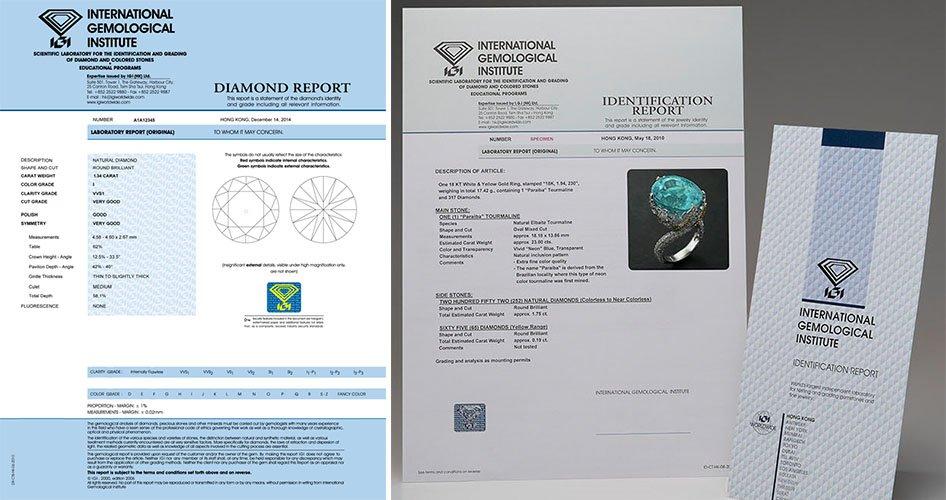 Сертификат IGI на бриллиант