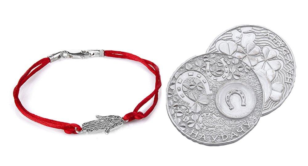 Красные шнурки и монеты – привлекают богатство и удачу