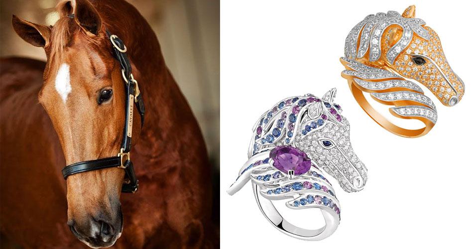 Кольца в виде лошади