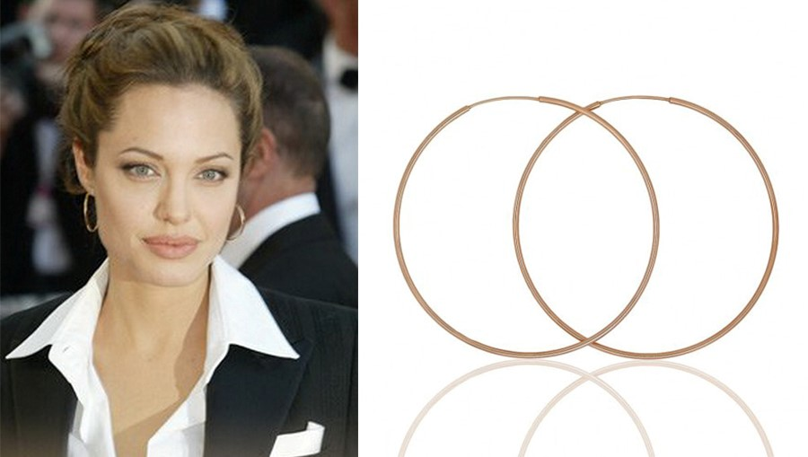 Модель серег конго одни из любимых у Анджелины Джоли
