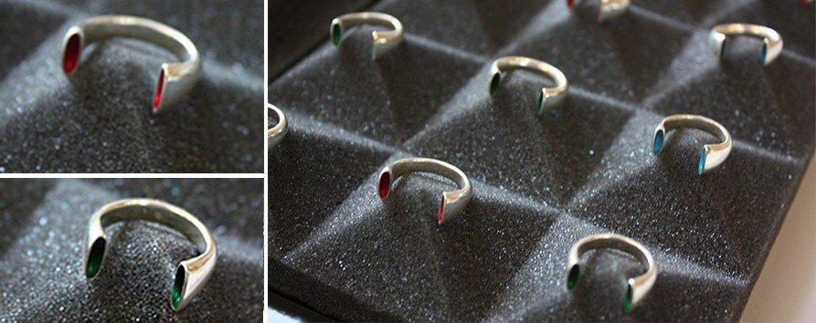 Модные кольца с открытой шинкой