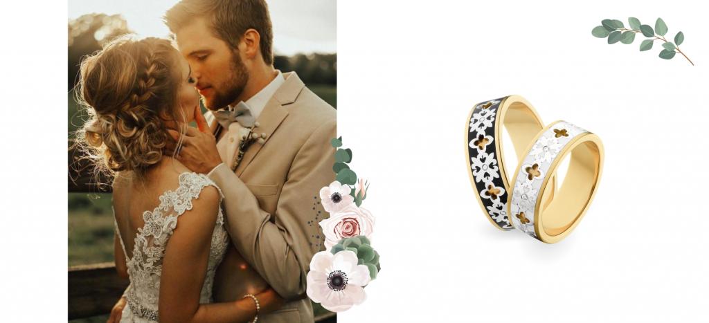 Любовь с первого взгляда: современные обручальные кольца