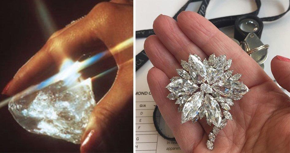 Брошь из алмаза сьерра леоне