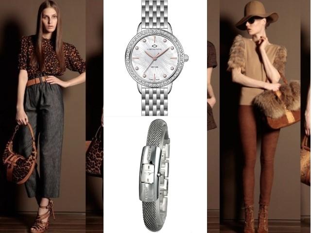 Часы с серебряным ремешком