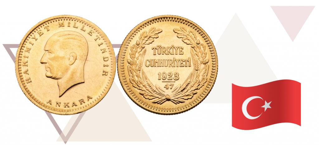 золотая монета Турции