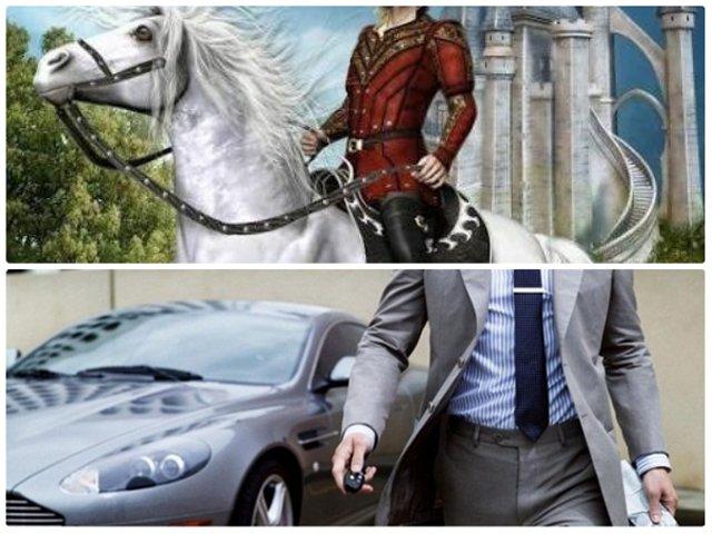 Мужчина в латах на коне