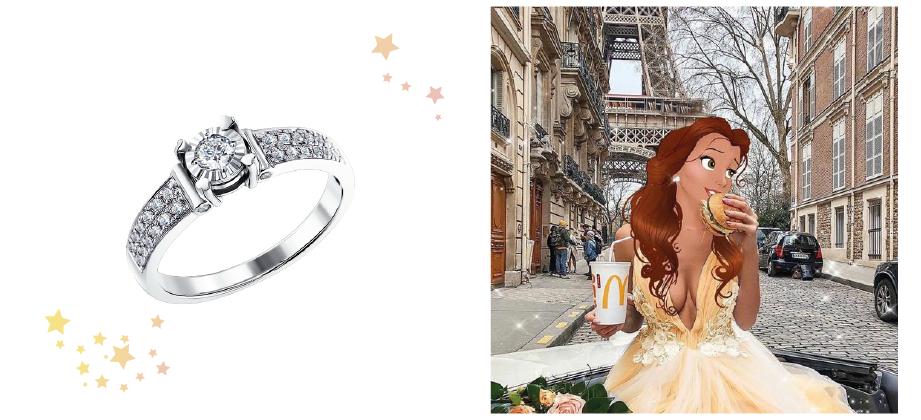 Кольцо в бриллиантовой усыпке