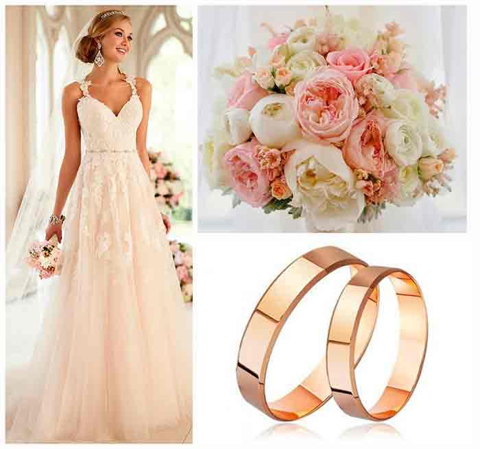 Классические золотые кольца на свадьбу