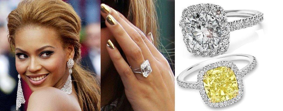 Бейонсе с кольцом из самым крупным алмазом