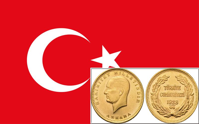 Turkish Gold Coin - золотая монета Турции