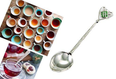 Серебряная ложечка с эмалью