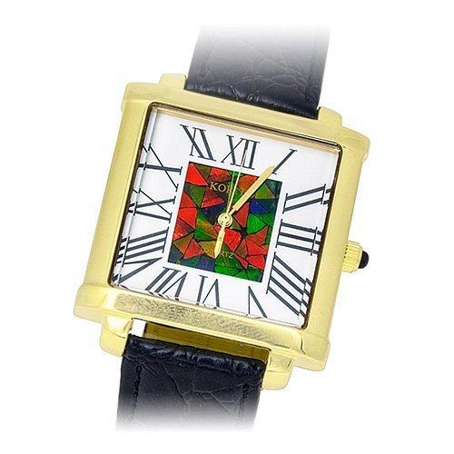 Часы золотые наручные с аммонитом