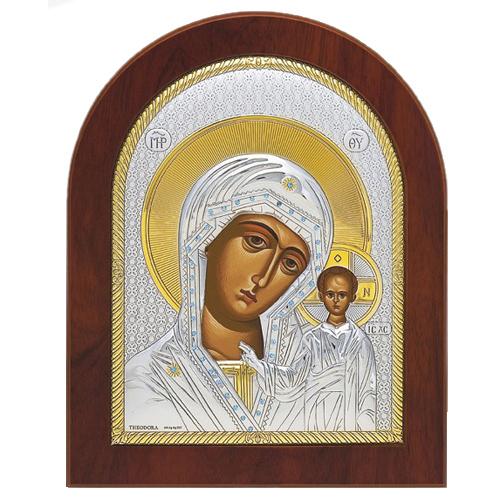 Икона с ликом Казанской Божьей матери
