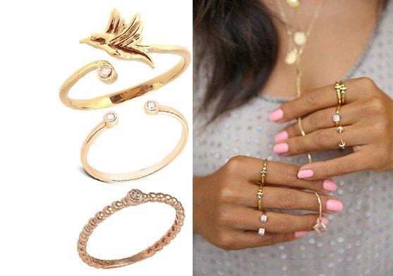Фаланговые золотые кольца