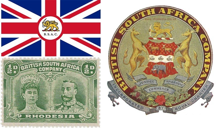 Флаг, марка и герб компании British South Africa Company