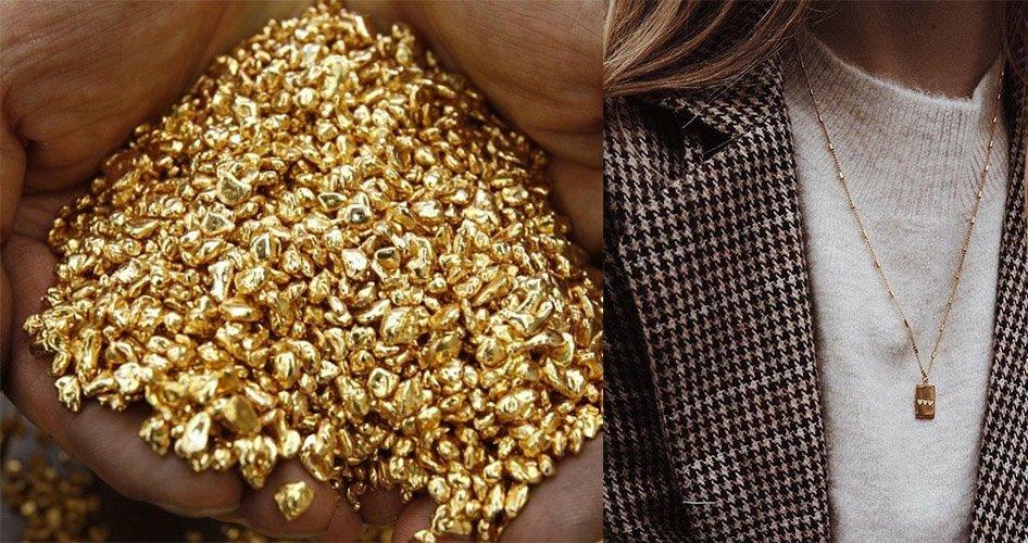 Золотая модная цепочка