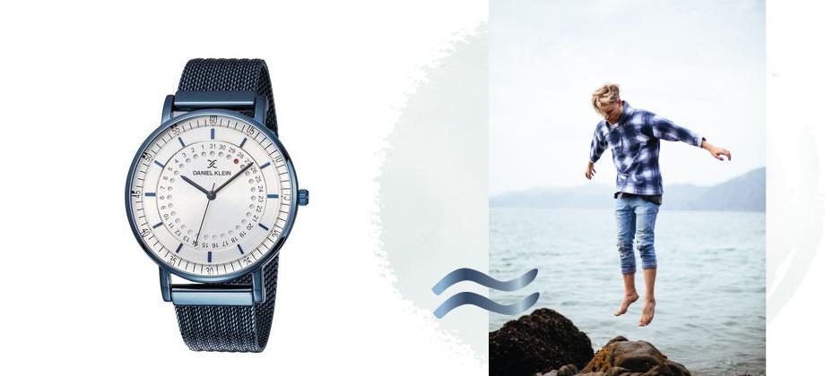 Мужские часы с синими ремешком