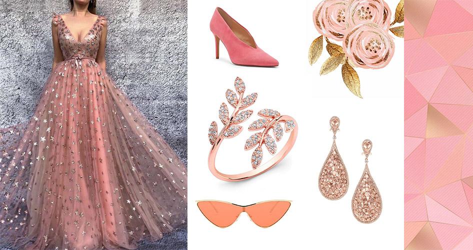Розовое золото украшения