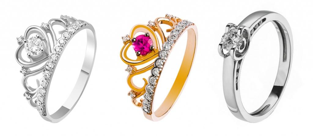 Яркие помолвочные кольца-короны