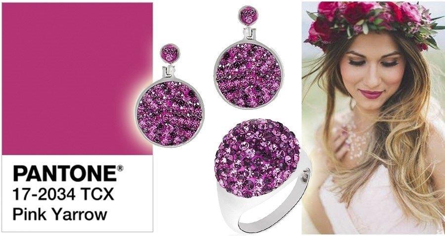 Модный цвет Pink Yarow «розовый тысячилистник»