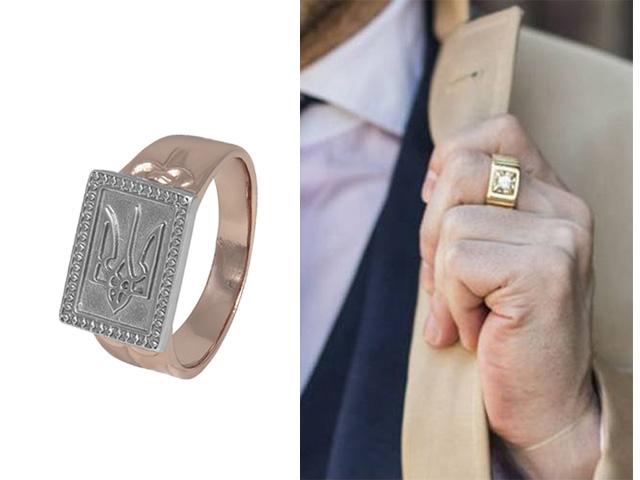 Мужское кольцо с позолотой