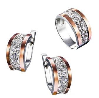 Набор серьги и кольцо с золотом 375 пробы