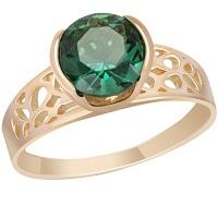 Кольцо, украшенное заеленым кристаллом
