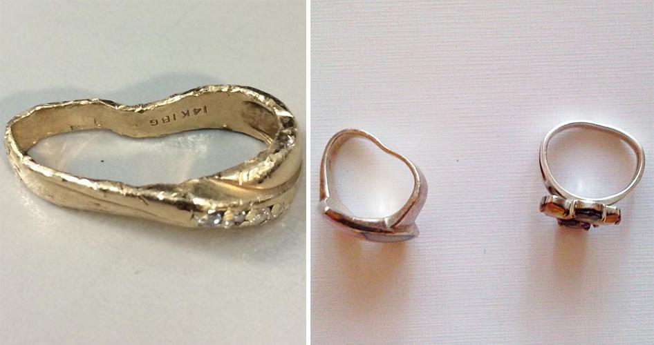 Погнутое кольцо ремонт