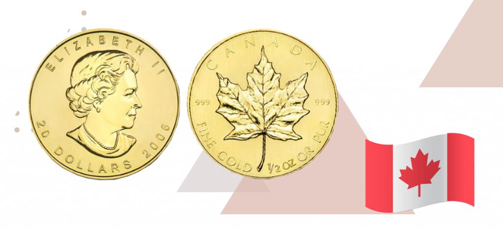 Канадская золота монета