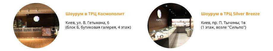 Контакты и адреса магазинов Zlato.ua в Киеве