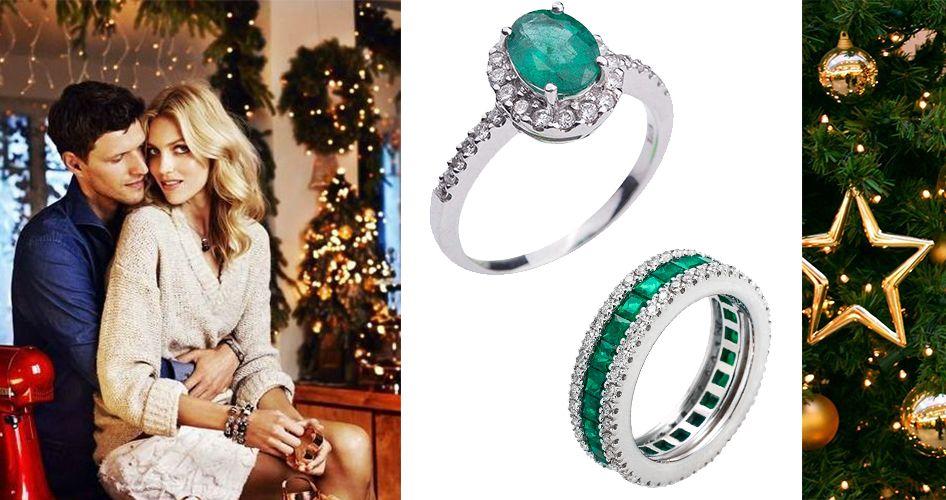 Помолвочные кольца с изумрудами