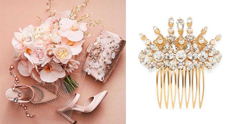 Золотой гребень с кристаллами