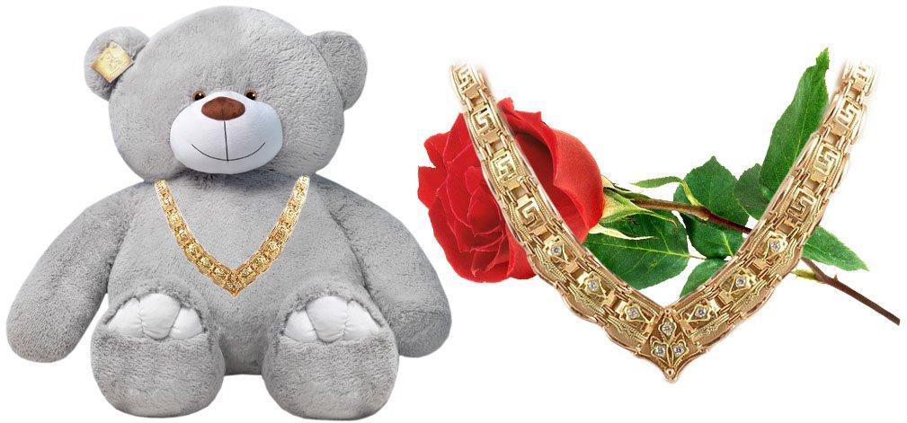 Мишка с золотым ожерельем