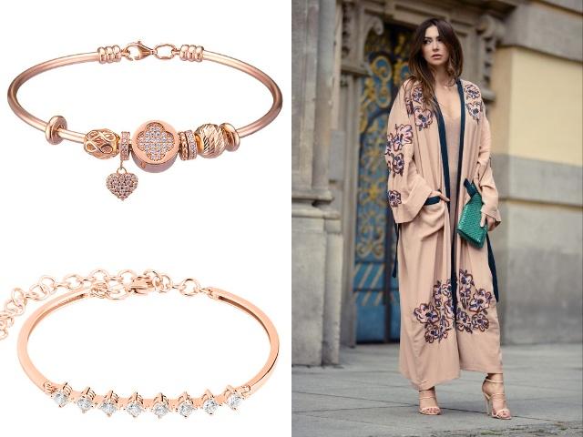 Жесткие браслеты женские из золота