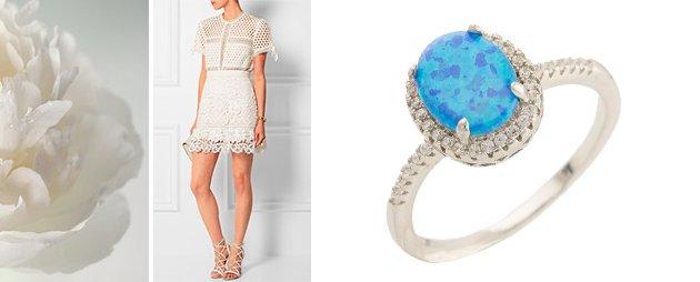 Женское кольцо с опалом