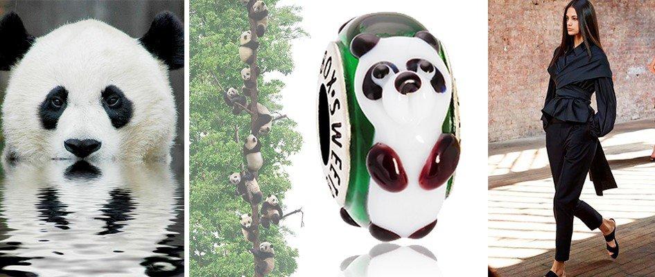Бусина для браслета с пандой