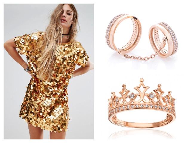 Красного золота кольцо в дизайне