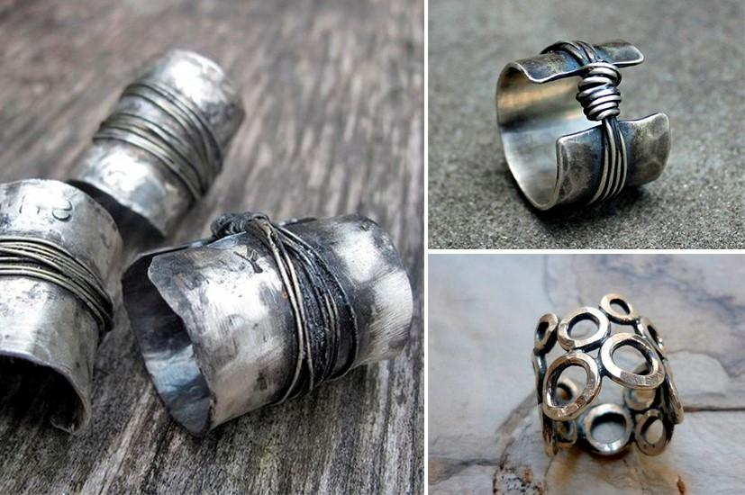 Почерненные украшения из серебра