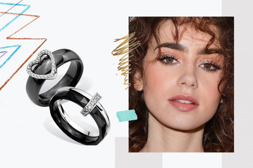 Серебряные кольца с керамикой