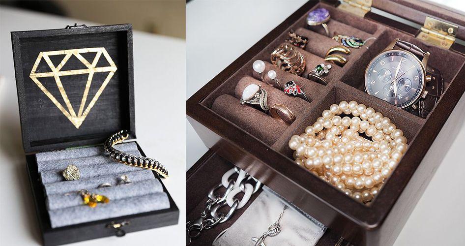 Шкатулки для хранения ювелирных украшений