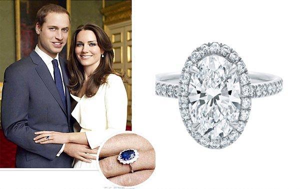 Кейт с обручальным кольцом принцессы Дианы