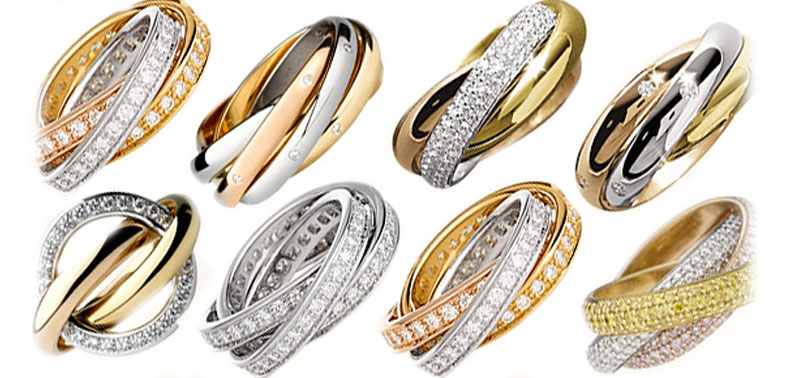 Кольца Cartier trinity