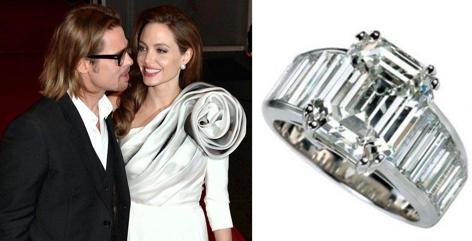 Бриллиантовое кольцо для Анджелины Джоли