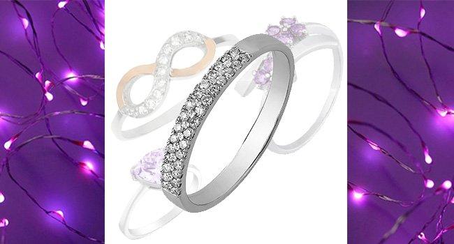 Женские кольца с фианитами