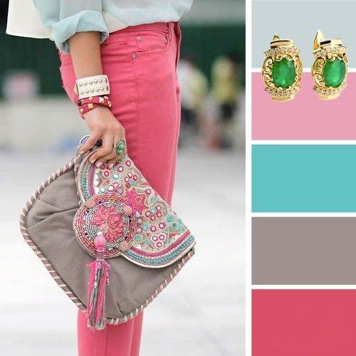 Идеальное сочетание розового цвета с другими цветами