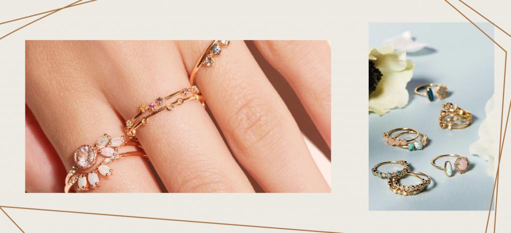 Золотые кольца на дамских пальцах