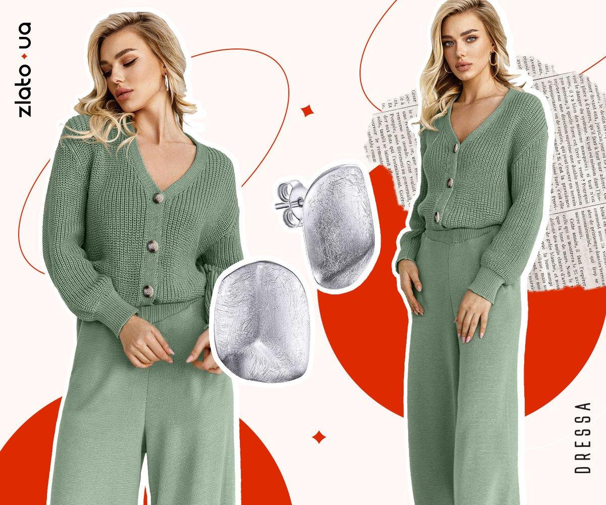модные серебряные серьги осень 2021