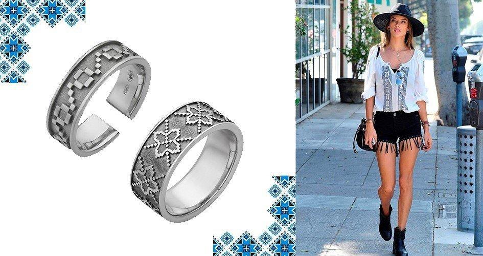 Серебряные кольца в этно стиле