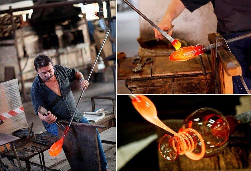 Изготовление изделия с муранского стекла