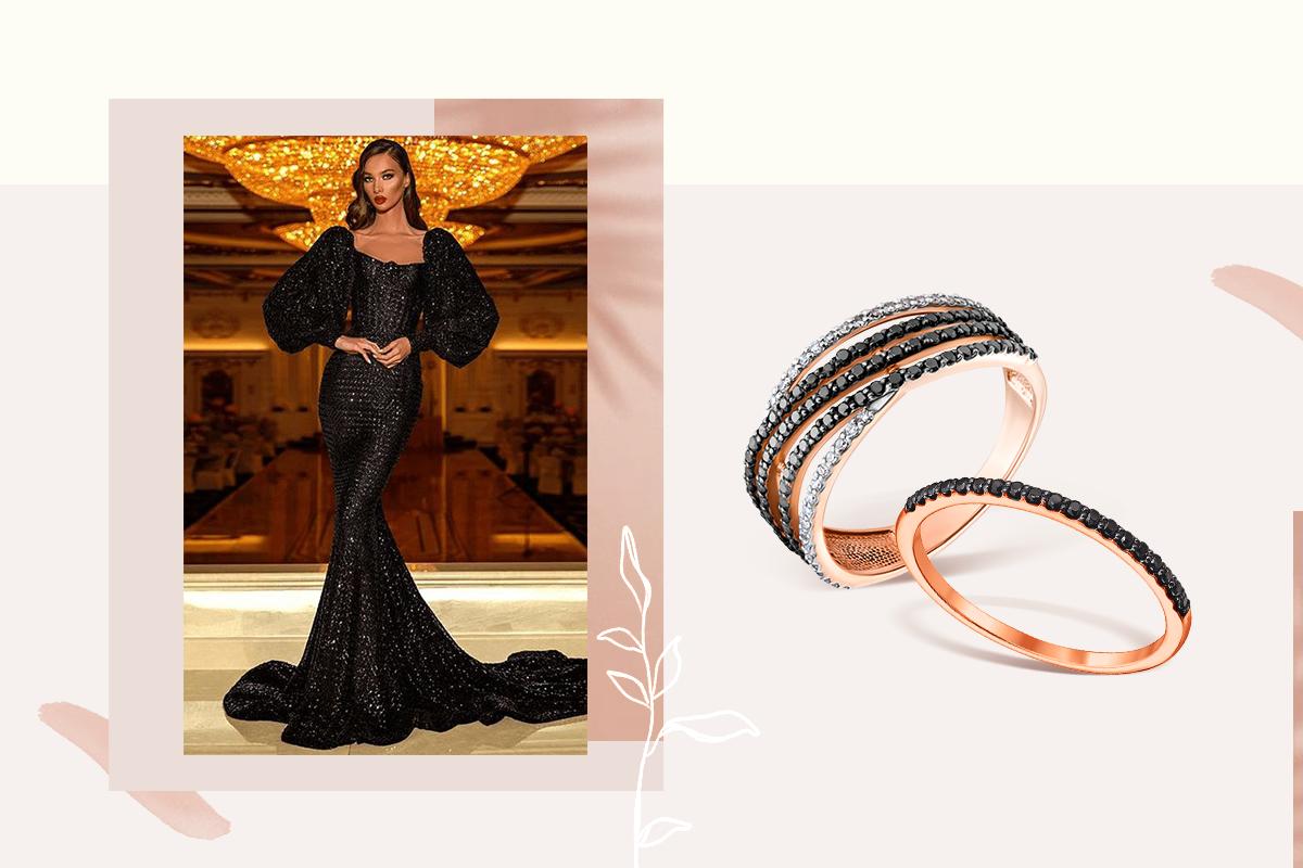 Золотые кольца с черными бриллиантами - ювелирная подборка от экспертов Злато.юа